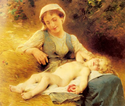 perrault_leon_jean_basile_a_mother_with_her_sleeping_child